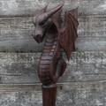 Ceremonial Staff  Gothic Water Dragon with Wings