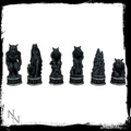 Vampire & Werewolf Chess Set  Nemesis Now