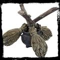 Broomstick Crystal Ball Holder  Nemesis Now