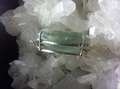 Aquamarine Sterling Silver Faceted Large Mirror Oval  Pendant