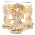 Cream Angel Figurine Oil Burner
