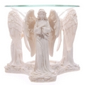 White Praying Angel Figurine Essential Oil Burner