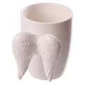 Novelty Ceramic White Angel Wings Mug