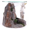 Unicorn fantasy oil burner  with glass dish