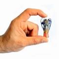 Crystal organite Angel with crystal gem chips & copper