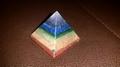 Sacred Chakra Crystal  Pyramid