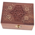 Sheesham Wood Aromatherapy Essential Oil Box  (Holds 12/24 Bottles)
