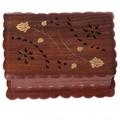 Decorative Sheesham Wood Fluted Flower Inlay Box