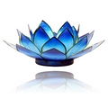 Lotus Flower  Blue  Chakra Tealight Candle Holder