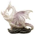 Ice Dragon  Mother Fantasy Winter Warrior Dragon Figurine