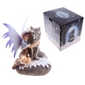 Mystic Realms Fairy with Wolf Companion