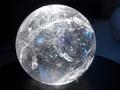 clear quartz  rainbow crystal sphere