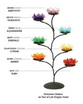 lotus flower 7 chakra tree tealight candle holder