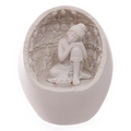 White Thai Buddha Round Incense Holder with LED