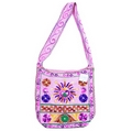 Ethnic Multi Wool Bags - Hippy Flower Design