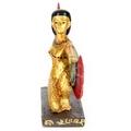 Decorative Gold Egyptian Winged Isis/Aset Figurine Kneeling