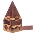 Sheesham Wood Pyramid Incense Burner Box
