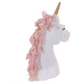 Unicorn Bust Ornament with Glittery Hair