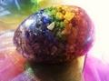 Large Orgonite Egg with Chakra Gemchips
