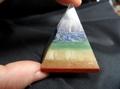 Large Sacred Chakra Crystal  Pyramid (clear quartz cap stone)
