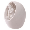 White Thai Buddha Round Incense Holder with LED