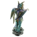 Mother Dragon Carrying Her Baby-  Fantasy Dragon Figurine